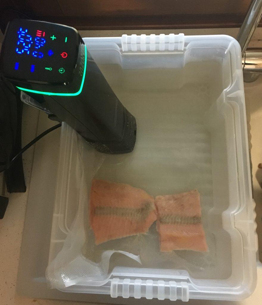 Salmone in cottura